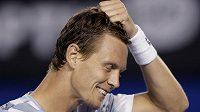 Český tenista Tomáš Berdych si vyčítá chybu v semifinále v Melbourne proti Andymu Murraymu.