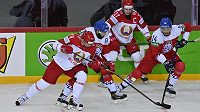 ZlevaSergej Kosticyn z Běloruska, Robin Hanzl, Jegor Šarangovič a Adam Musil.