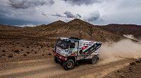 Martin Kolomý na trati 4. etapy Rallye Dakar.