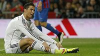Hvězda Realu Madrid Cristiano Ronaldo během zápasu s Levante.