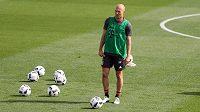 Arjen Robben při tréninkovém kempu Bayernu v Kataru.