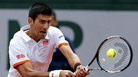 Světová tenisová jednička Novak Djokovič ve třetím kole French Open.