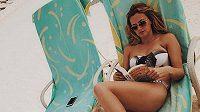 Petra Kvitová si užila lenošení na pláži jen chvilku. Teď už je zpátky v tréninku.