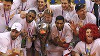 Basketbalisté Nymburka slaví triumf