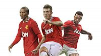 Michael Carrick, Ashley Young a Nani