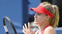 Kanaďanka Eugenie Bouchardová na turnaji v Torontu.