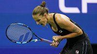 Emoce Karolíny Plíškové ve druhém kole US Open.