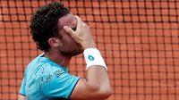 Marco Cecchinato nemůže uvěřit, že postoupil ze čtvrtfinále French Open.