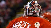 Petr Mrázek se v nové masce představil proti New Yorku Islanders.