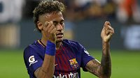 Brazilec Neymar slaví gól v dresu Barcelony. Dočkáme se brzy změny?