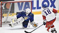 Gól! Český hokejista Dominik Kubalík proměnil v utkání s Finy oba nájezdy a rozhodl o výhře nad výběrem Suomi.