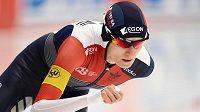 Česká rychlobruslařka Martina Sáblíková při závodě na 3 000 m v německém Inzellu.