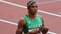 Nigerijská sprinterka Blessing Okagbareová