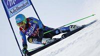 Vítězný Ted Ligety z USA na trati závodu SP v obřím slalomu ve švýcarském Adelbodenu