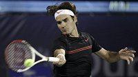 Roger Federer na turnaji v Dubaji