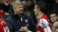 Díky a sbohem! Spojení Robina van Periseho s Arsenalem a potažmo Arsénem Wengerem může být od léta příštího roku už minulostí.