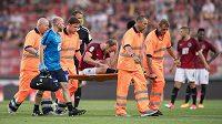 Další komplikace pro fotbalovou Spartu - zraněný stoper Semih Kaya. Ten nedohrál derby s Bohemians.