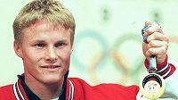 Ross Rebagliati se zlatou olympijskou medailí.