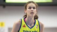 Basketbalistka Veronika Voráčková z USK při semifinále s Nymburkem.