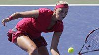 Petra Kvitová v utkání s Ukrajinkou Elinou Svitolinovou ve druhém kole turnaje v Cincinnati.