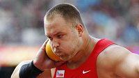 Český koulař Tomáš Staněk při kvalifikaci na mistrovství světa v atletice