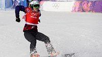 Snowboardkrosařka Eva Samková na olympiádě v Soči.