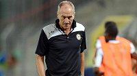 Zklamaný kouč Udinese Calcio Francesco Guidolin po porážce s Libercem.