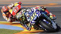 Ital Valentino Rossi a Marc Marquez ze Španělska ve Valencii. Ilustrační snímek.