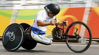 Ital Alessandro Zanardi při olympijském závodě.