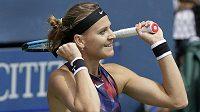 Postupová radost Lucie Šafářové ve 3. kole US Open.