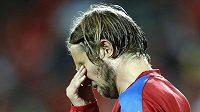 Smutný Jaroslav Plašil po porážce s Tureckem na mistrovství Evropy.