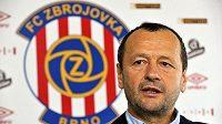 Sportovní ředitel fotbalového týmu Zbrojovky Brno Zdeněk Kudela na tiskové konferenci.