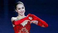 Patnáctiletá ruská krasobruslařka Alina Zagitovová ov Nagoji.