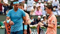 Rafel Nadal během vítězného French Open