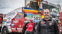 Aleš Loprais s kamiónem MAN během letošního ročníku Rallye Dakar.
