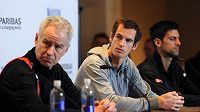 John McEnroe (vlevo) a Andy Murray budou spolu možná spolupracovat.