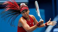 Japonská tenisová hvězda Naomi Ósakaová na olympijském turnaji v Tokiu.