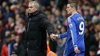 Útočník Fernando Torres se loučí s Chelsea i s trenérem Mourinhem, odchází na hostování do AC Milán.