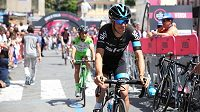 Australský cyklista Richie Porte z týmu Sky na Giru.