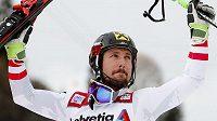 Rakušan Marcel Hirscher po dalším triumfu v Adelbodenu.
