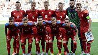 Česká reprezentace do 21 let před utkáním EURO 2015 s Dánskem.