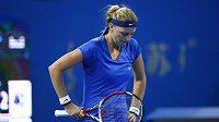 Petra Kvitová během finále turnaje v Pekingu.