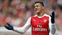 Útočník Arsenalu Alexis Sánchez.