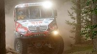Kamión Tatra Aleše Lopraise při soutěži v Polsku.