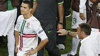 Trenér portugalských fotbalistů Paulo Bento se svou největší hvězdou.