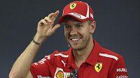 Sebastian Vettel před Velkou cenou Japonska.