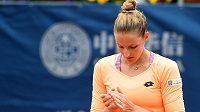 Poražená finalistka tenisového turnaje Prague Open Kristýna Plíšková. Finálovou prohru oplakala.