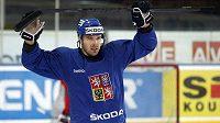 Milan Gulaš na tréninku hokejové reprezentace (ilustrační foto).