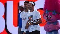 Novak Djokovič a Roger Federer na Australian Open.