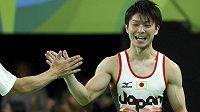 Japonský gymnasta Kohej Učimura. Obhájí olympijské zlato ve víceboji?